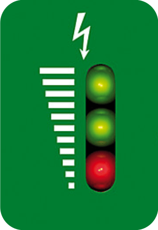 Schrikdraadapparaat controlelamp