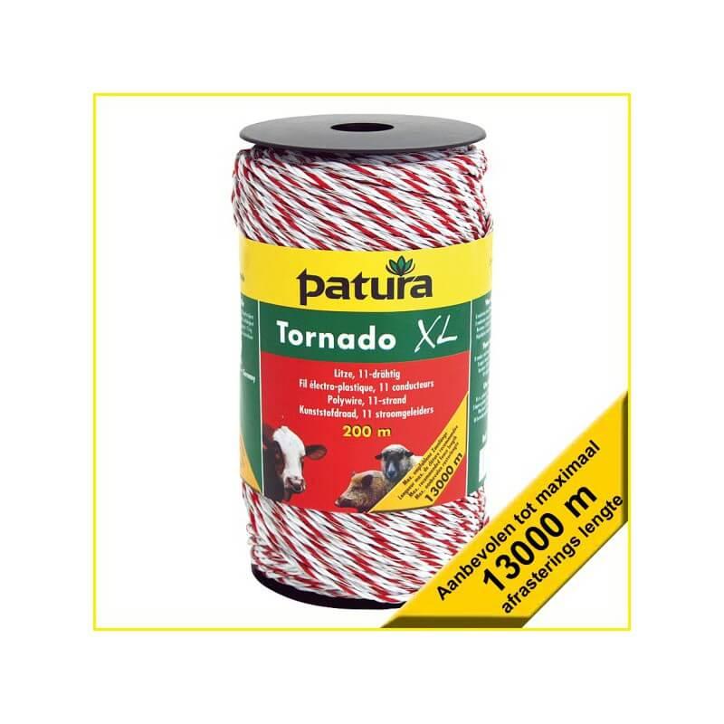 Patura Schrikdraad Tornado XL kunststofdraad - 200, 400 of 1000 meter