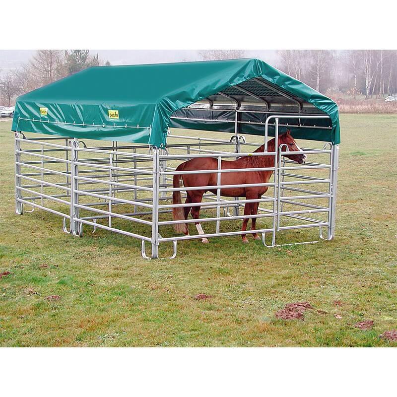 Schuilhok paarden 6 meter x 3,6 meter zonder zijpanelen