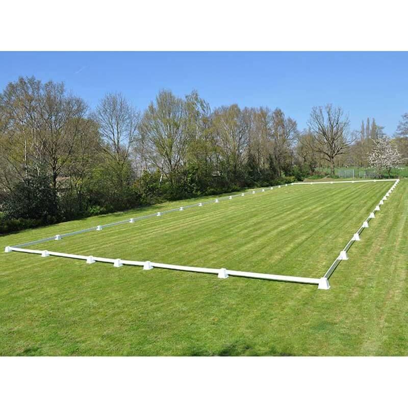 Dressuurring, dressuurpiste 20 x 60 meter met 4 meter planken