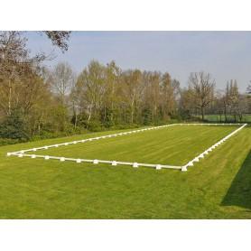 Dressuurring 20 x 60 meter met 2 meter planken