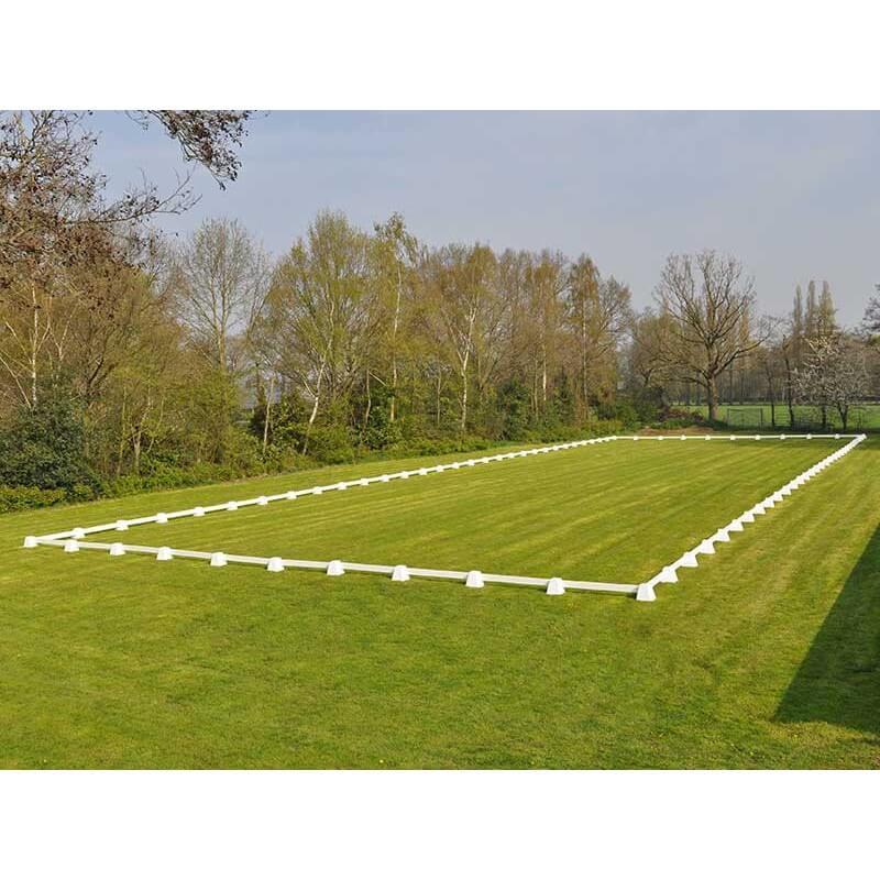 Dressuurring, dressuurpiste 20 x 60 meter met 2 meter planken