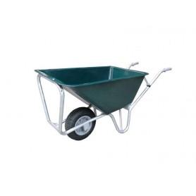 Kruiwagen PE groen 160L licht model