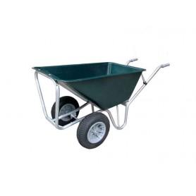 Kruiwagen PE groen 160L. licht model 2-wiel