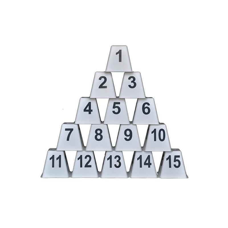 Nummerset 1 t/m 15, A, B, C wit