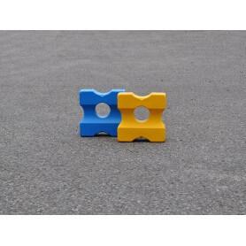 Cavaletti blok Small voor training met blauw en geel