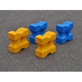 Set 4 kleine cavaletti blokken Small, speciaal voor blauw en geel trainingen
