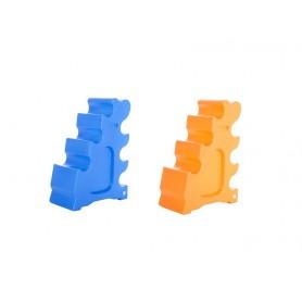 Jumping block, cavalettiblock voor blauw met geel trainingen