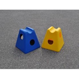 Cavaletti pionnen blauw en geel