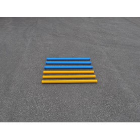 Set van 6 grond balken van 175 cm kunststof