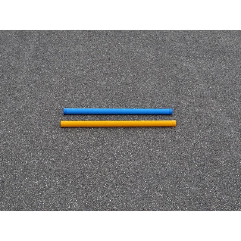 Hindernisbalk kunststof 175 cm voor training met blauw - geel