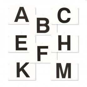 Dressuurletterbordjes A B C E F H K M