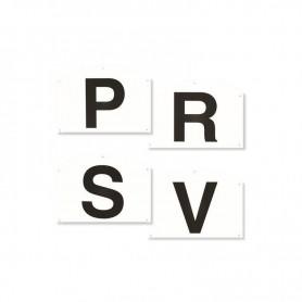 Dressuurletterbordjes P R S V