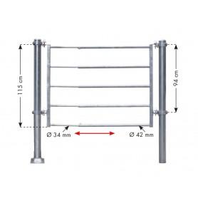 Inschuifdeel lichte poort 152 cm