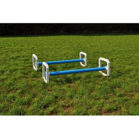 Vierkante aluminium cavaletti set van 4