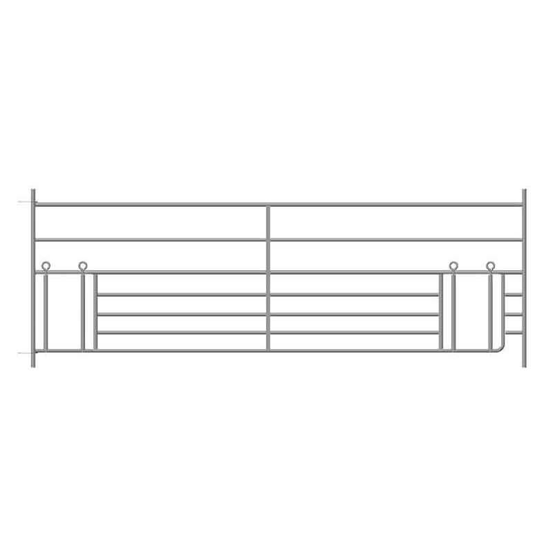 Steekfix hek met dubbele lammeren kruipgat 2,75 m