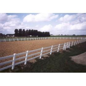 Omheining paardenbak 20m x 60m, 3 planken