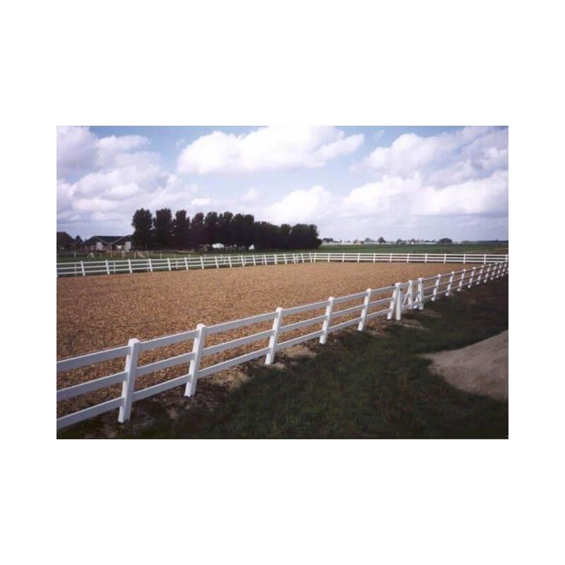 Omheining paardenbak 20 m x 60 m, 3 planken