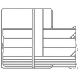 Veiligheidspaneel voor paarden met poort en voerplaats