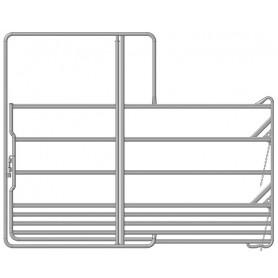 Veiligheidspaneel voor paarden met poort