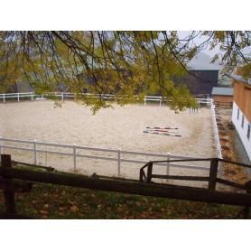 Omheining paardenbak 20m x 40m, 2 planken